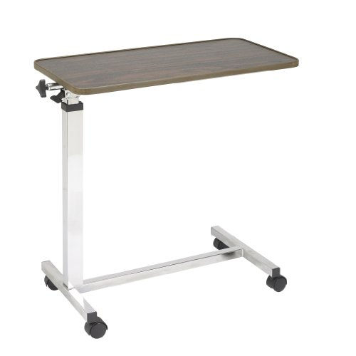 Drive Medical Tilt Top Overbed Table, Walnut by Drive Medical (Image #3)