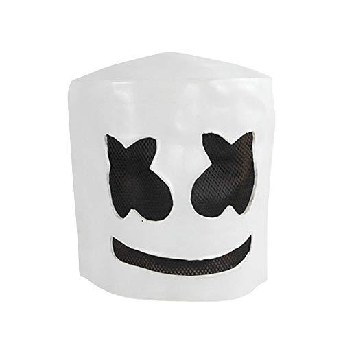 Lovewe DJ Marshmello Mask,Helmet Halloween Costumes for Unisex Adult Party -