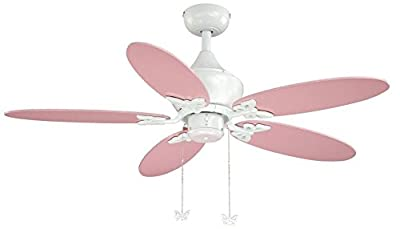 "Vaxcel FN44322W Alice Ceiling Fan, 44"", White Finish"