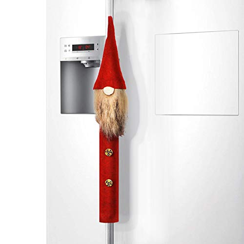 ITOMTE Handmade Swedish Tomte Refrigerator Door Handle Cover - Mini Gnome Kitchen Appliance Handle Covers for Valentine's Day Decoration - Gift Idea - Home Door Cloth Protector