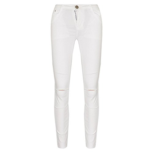 A2Z 4 Kids® Girls Stretchy Jeans Kids White Denim Ripped Pants Frayed Trousers Age 5-13 Year by A2Z 4 Kids®