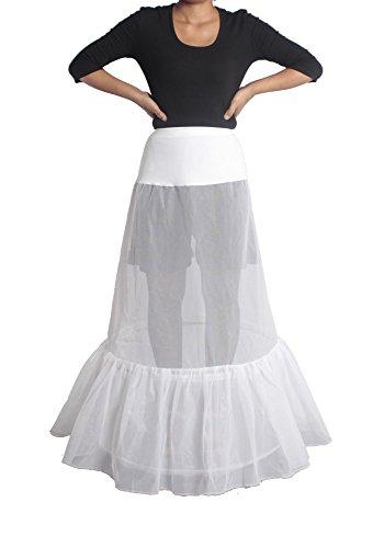XYX Reifrock Petticoat Unterrock petticoat kleid 50er Hochzeit Petticoat Reifrock krinoline hoopless Brautpetticoat FRAUEN Hochzeit Petticoat 2 Layer Unterrock Schlupf Krinoline WEISS XS-M