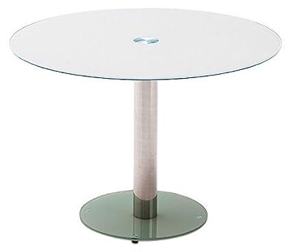 Runder Esstisch aus Glas von Robas Lund in Weiß mit ...
