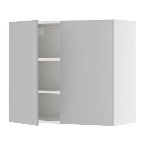IKEA FAKTUM -Wandschrank mit 2 Türen APPLÅD grau: Amazon.de: Küche ...