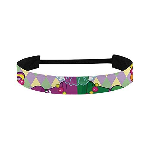 C COABALLA Mardi Gras Simple Sports Headband,Carnival Girl