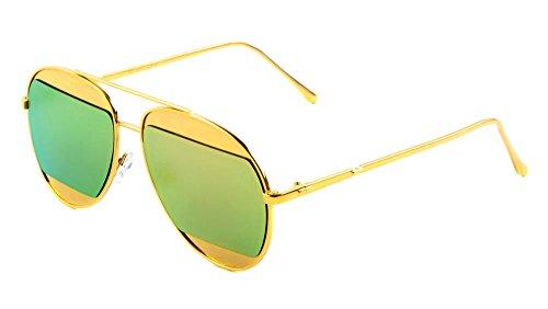 Sunglasses Luxe AV-1470 Metal Fashion Aviator Sunglasses (Frontier Sunglasses)