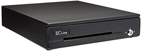 Cajon de dinero Ec Line ec-cd-50m negro, comportamientos billetes 4 / monedas 8