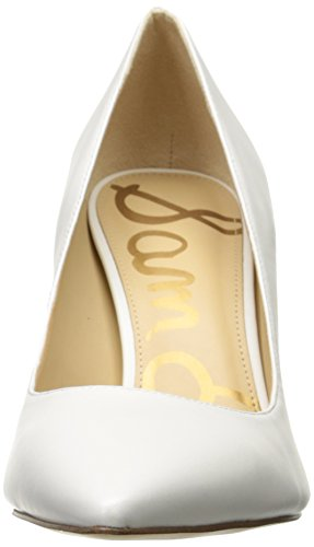 Blanc Hazel White Leather Bright Edelman Sam Escarpins Femme UIIzw