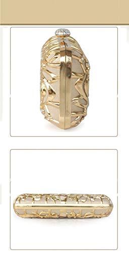 Diamants Et 9x4inch Luxe à Sacs Incrusté de Jours A Main Chaîne soirée Soirée Brille fériés de C Pochette Bal de Fashion Amovible 22x9cm soirée avec d'autres Sac 7EY4nYWq