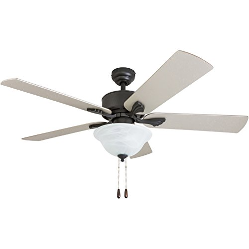 Prominence Home 50774-01 Berclair Traditional Ceiling Fan (3 Speed Remote) 52