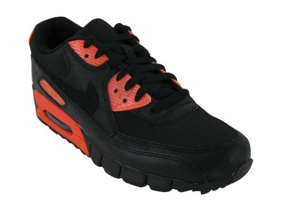 Nike Trainers Shoes Mens Air Max 90 Ct Le Leather and Nylon Fibres Black (2009 Max Women Air For Nike)