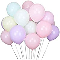 100pcs Pastel Latex Balloons Assorted Macaron Candy Colored Latex Party Balloons for Wedding Graduation Kids Birthday Party Christmas Baby Shower Party Supplies