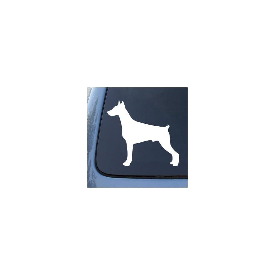 Dog   Vinyl Decal Sticker #1508  Vinyl Color White Automotive