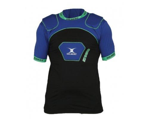 GILBERT atomic V2 rugby shoulder pads [Black/blue] 5024686205882