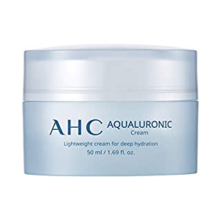 AHC Face Cream Aqualuronic Hydrating Triple Hyaluronic Acid Korean Skincare For Deep Hydration 1.69 oz