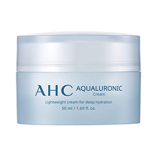 AHC Aqualuronic Face Cream for Dehydrated Skin Triple Hyaluronic Acid Korean Skincare 1.69 oz