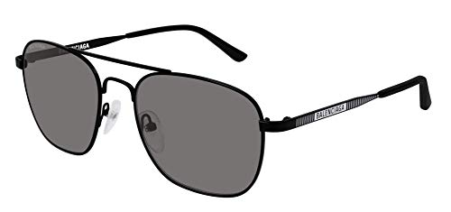 Balenciaga BB0037S Sunglasses 001 Black/Grey Glass Lens 55 mm