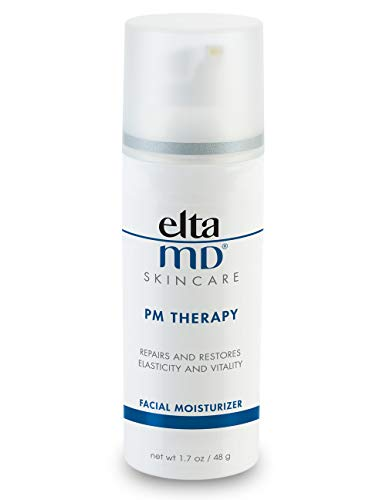 EltaMD PM Therapy Facial Moisturizer, Antioxidant, Peptide and Ceramide Blend, Oil-free, Dermatologist-Recommended, 1.7 oz