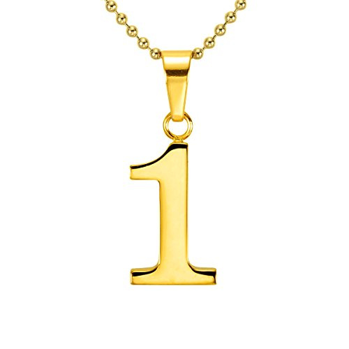 number pendant gold - 8