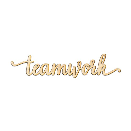 Teamwork Edge - Teamwork Script Wood Sign Home Decor Wall Art Unfinished Charlie 12
