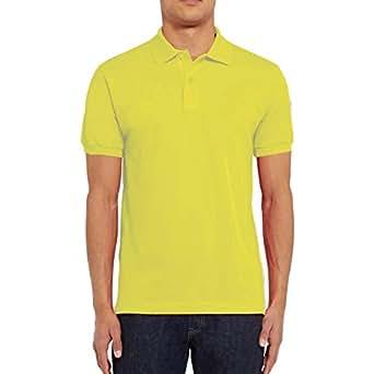 Santhome Cotton Polo Shirt for Men - Yellow