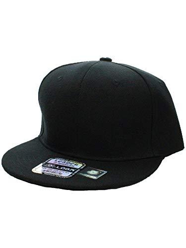 (L.O.G.A. Plain Adjustable Snapback Hats Caps (Many Colors). Black)