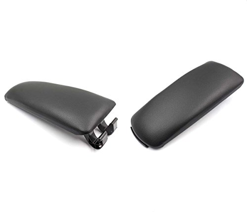 goodeal-black-leather-armrest-center-box-console-lid-cover-fit-2004-2008-audi-a4-b7