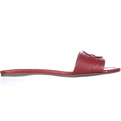 Tommy Hilfiger Fabre de la mujer sandalias Rojo medio