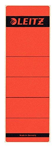 Leitz 1643 R/ückenschilder f/ür Standard-Ordner 50er Sparpack, grau kurz selbstklebend schmal