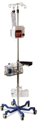 Medline MDS80600 Six Leg Heavy Duty IV Pole, Stainless Steel, Latex Free, 73