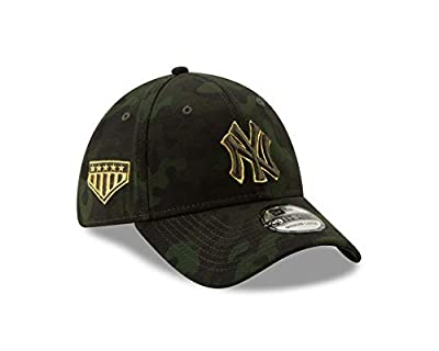 New Era 2019 MLB New York Yankees Hat Cap Armed Forces Day 39Thirty 3930 Green/Gold