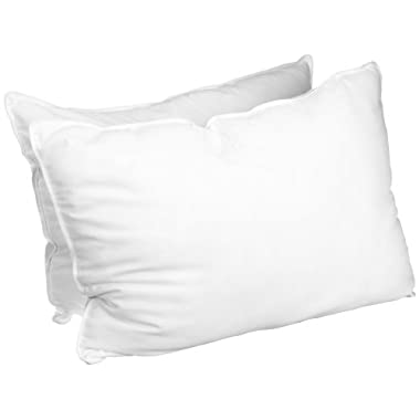 All Season Down Alternative Standard Pillow Set, White (Set of 2)