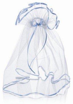 Falda de tul (azules) para las velas de bautizo, comunión velas ...
