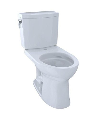 TOTO CST454CUFG#01 Drake II 1G Two-Piece Elongated 1.0 GPF Universal Height Toilet with CEFIONTECT, Cotton White