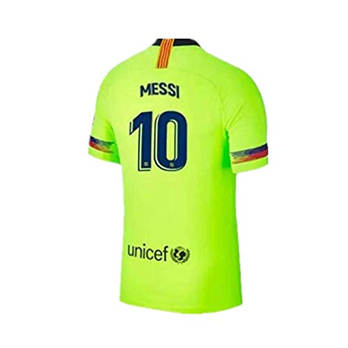 Mens Away Jersey - 2018-2019 New Season Barcelona #10 Messi Away Mens Soccer Jersey Color Green Size S