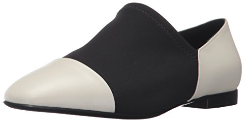 Leather Women's Via Tate Black Spiga Stretch Loafer Bone XvzqUXwf