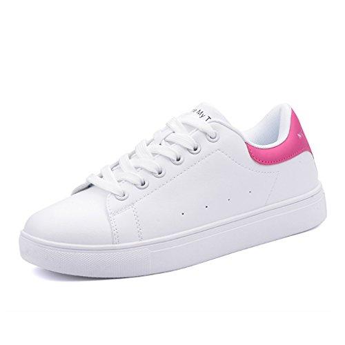 Taille Mode Lacets Skateboarding Femmes Rouge Rouge couleur Rose 36 Occasionnels Plates Chaussures Étudiant Sports À tHqtSTw7