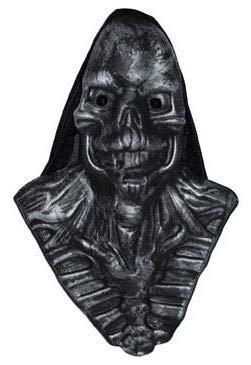 Lote/Conjunto de 6 Piezas - Máscara de plástico con Capuchón Negro depredador