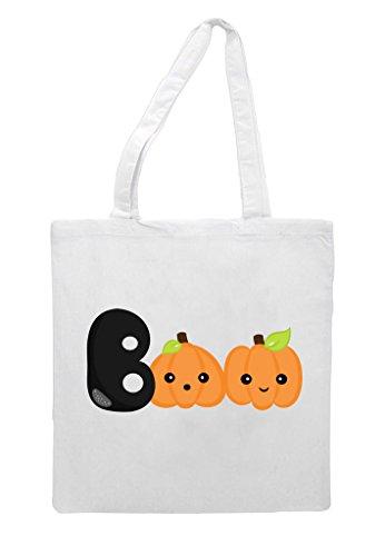 Tote Bag White Shopper Halloween Boo 6wq4Xn