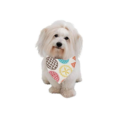(VNASKL Easter Pet Dog Cat Bandana Apple Pie Food Dessert Delicious Baking Fashion Printing Bibs Triangle Head Scarfs Kerchief Accessories for Large Dog Cat Pet Birthdays Party Gifts)