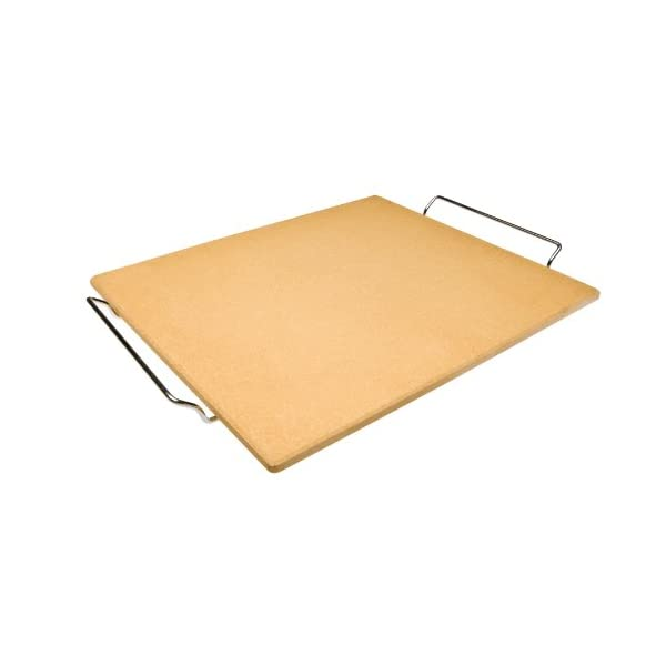 Ibili 784340 - Pietra refrattaria per pizza, rettangolare, 41 x 36 x 1.5 cm