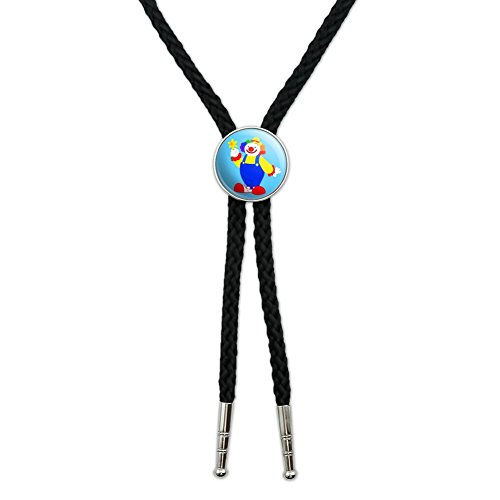 Clown with Flower and Big Shoes Western Southwest Cowboy Necktie Bow Bolo Tie from Graphics and More