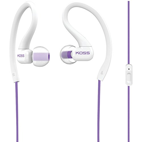 KOSS 187874 KSC32i FitClips Earbuds with Microphone (Violet)
