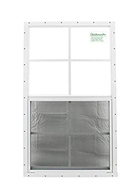 "Shed Windows 24"" X 36"" White Flush Mount SAFETY/TEMPERED GLASS, Playhouse Windows, Chicken Coop Windows"