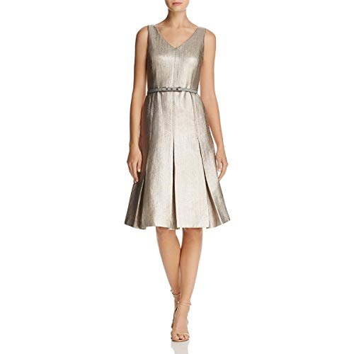 Lafayette 148 New York Womens Lois Metallic Sleeveless Cocktail Dress Gold 6 from Lafayette 148
