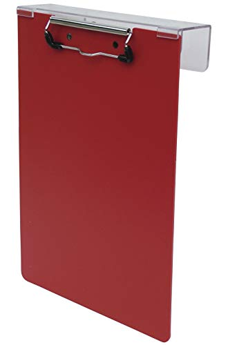 (Omnimed 203913-RD Over-The-Bed Poly Clipboard, Red (Renewed))