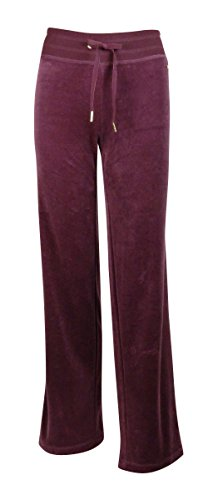 Calvin Klein Womens Plus Velour Wide Leg Athletic Pants Purple 2X (Velour Wide Leg)