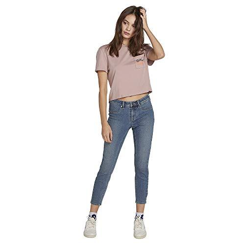 - Volcom Women's Junior's Liberator Legging Fit Jean, Seventies Indigo 28X27