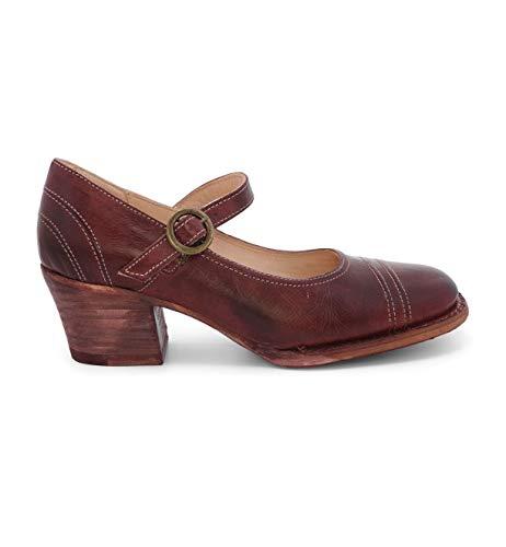 Boot Oak Tree - OAK TREE FARMS Women's Twigley Leather Heel (8.5 M US, Dark Scarlett Rustic)