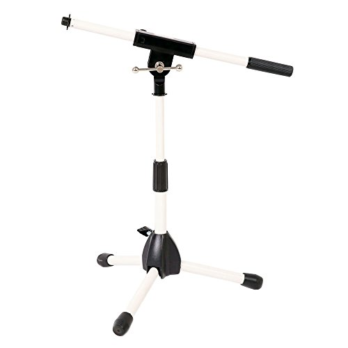 Stage Rocker Powered by Hamilton SR610121BW Lo-Profile Mic Boom Stand - White